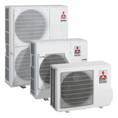 three air source heat pumps