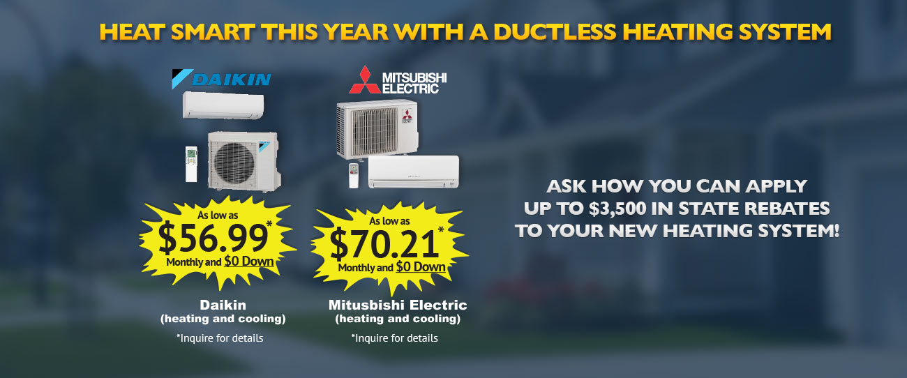 Ductless Heating System Specials